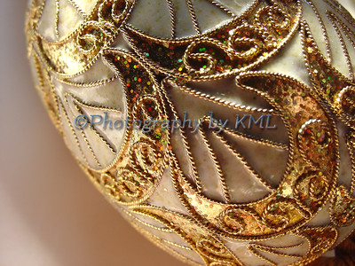decorated gold egg macro