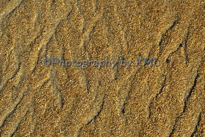 texture of ripples in wet sand