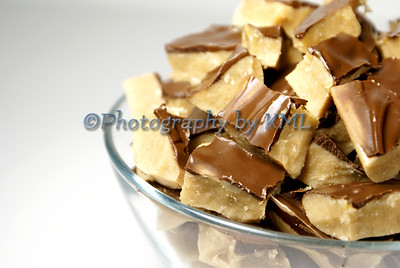 a bowl of home made toffee candy