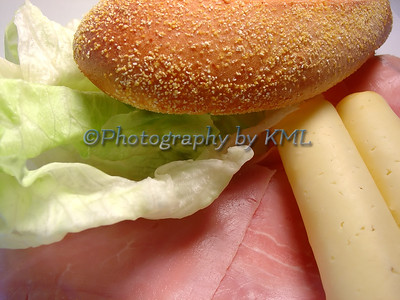 ham cheese and bread for a sandwich