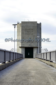 walkway leading to the dam control tower