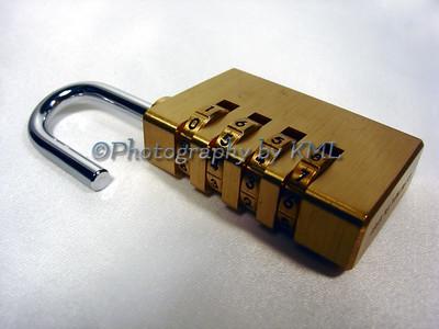 an unlocked combination lock
