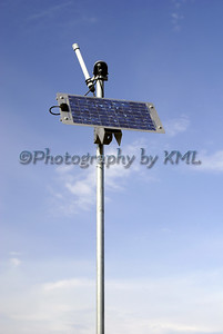 a solar panel against a blue sky