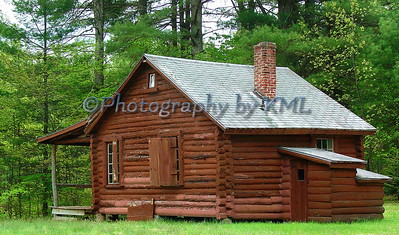 old log cabin for camping