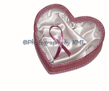 pink heart with breast cancer pink ribbon