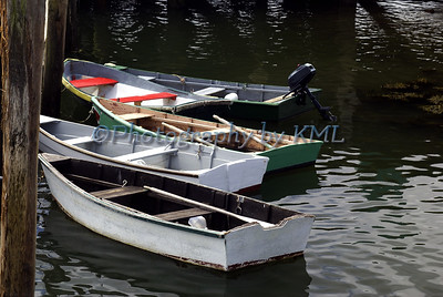 rowboats moored along the dock
