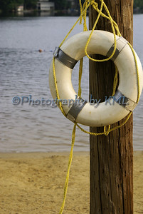 a life preserver at the lake