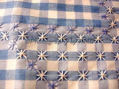 blue and white checkered gingham cloth